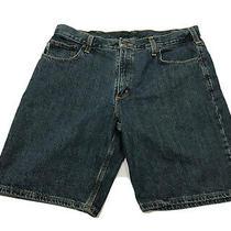 Carhartt Adult Denim Jean Shorts Size 38 Blue Denim Excellent Condition Photo