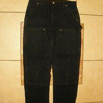 Carhartt B01 Black Double Front Duck Canvas Work Pants Usa Made 36 X 32 Euc Photo