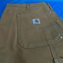Carhartt B01 Brn Men's Double Front Work Pants Carpenter Painter Like New 38x30 Photo
