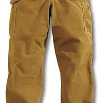Carhartt B11 Brn 36 34 Work Pantswashed Brownsize36x34 In Photo