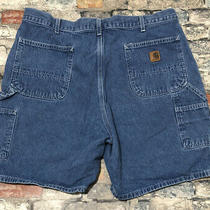 Carhartt B28 Dst 100% Cotton Blue Denim Carpenter Shorts Sz 40 (Measured 38) Photo