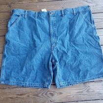 Carhartt B28-Stw Light Blue Jean Denim Carpenter Work Shorts Mens Size 50 Photo