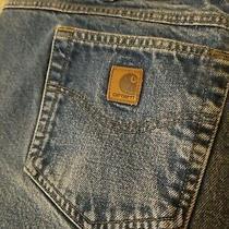 Carhartt B280 Prw Traditional Fit Med Blue Denim Mens Jeans Size 44 X 33 Photo