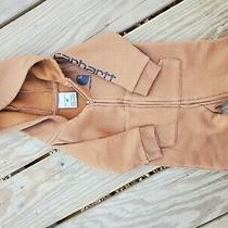 Carhartt Baby Boy Zip Hooded Coverall 6 Months Brown Photo