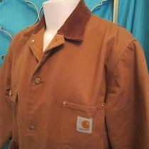 Carhartt Barn Chore Jacket With Blanket Lining Size 44 Brown Photo