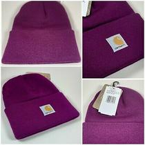 Carhartt Beanie  Plum Caspia  Youth Kids Cap  100% Authentic New Watch Hat Photo