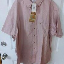 Carhartt Big & Tall Men's Sz 2x-Large Ss Striped Button Down Shirt  Nwt's  Photo