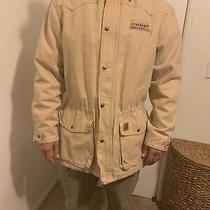 Carhartt Blanket Lined Duck  Chore Jacket Mens Med Regular. Beige Photo