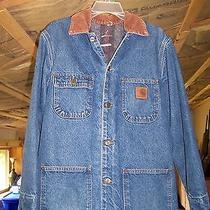 Carhartt Blue Denim Jean Barn Jacket  Size Mens Small Photo
