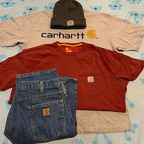 Carhartt Blue Jeans Mens Sz 36 X 34 Relaxed Fits Lot of 4 Photo