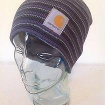 Carhartt Blue Mini Stripe Sock Watch Cap Hat Beanie New With Tags Photo