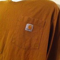 Carhartt Brown Side Pocket Long Sleeve T Shirt