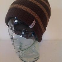 Carhartt Brown Striped Knit Lined Sock Watch Cap Hat Beanie New With Tags Photo