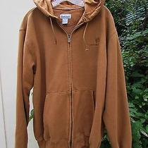 Carhartt Brown Sweatshirt Hoodie Jacket Man's Large Photo