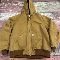Carhartt Brown Workwear Jacket Coat Men Size Xl Zip Up With Hood Photo