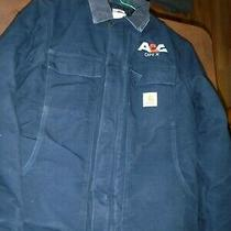 Carhartt C03 Duck Traditional Arctic Quilt Lined Coat Size 38  Navy  Warm Photo