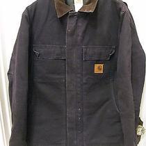 Carhartt C26 Arctic Quilt Lined Barn Coat Jacket Navy Blue Men's Sz L Photo