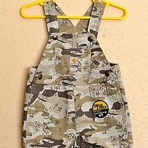 Carhartt Camouflage Camo Bib Shortalls Overalls Infant Baby Boys 6 Months - New Photo