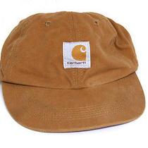 Carhartt Canvas Work Hat Snapback Velcro Back One Size 6 Panel Brown Child Boys Photo