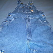 Carhartt Carpenter  Jeans Bib Overalls With Birds on Right  Leg Photo