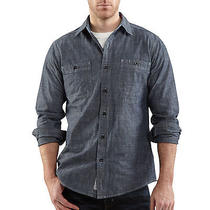 Carhartt Chambray Denim Blue 2xl Mens Shirt Long Sleeve Photo