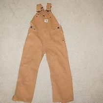 Carhartt Childrens Youth Boys Childs Canvas Overalls 6 Photo