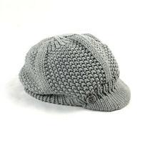 Carhartt Copper Harbor Womens One Size Knit Gray Brim Beanie Hat Photo