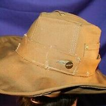 Carhartt Cowboy Hat Size Xl or 7-5/8 Handmade Tan Formable Duck Fedora Photo