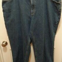 Carhartt Denim Jeans Mens 44x30 Blue Straight Leg 100% Cotton Relaxed Fit Washed Photo