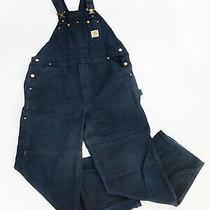 Carhartt Double Front Knee Work Canvas Duck Overalls Size 38x30 Photo