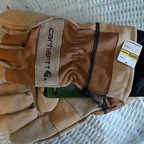 Carhartt Dozer Smart Thumb Leather Cotton Work Lawn Garden Gloves Men Xl Nwt Photo