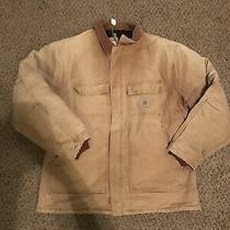 Carhartt Duck Quilt Lined Work Jacket Size 2xl Photo
