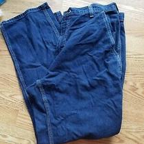 Carhartt Dungaree Blue Denim Jeans Size Tag Reads 36 X 30 Measures 38 X 31 Photo