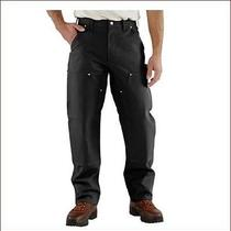 Carhartt Firm Double Front  Pants Size 34x32 New  Black  B01 Photo