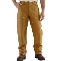 Carhartt Firm Double Front  Pants Size 34x32 New Carhartt Brown B01 Photo