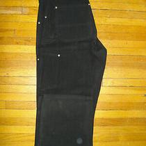 Carhartt Firm Duck Work Dungaree Pants Black 34/34 Photo