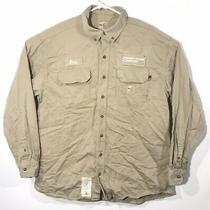 Carhartt Flame Resistant Fr Shirt 294-62 Khaki Arc 9.5 Cal/cm2 Cat2 - Small Rg Photo