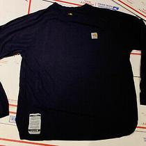 Carhartt Fr Force Men's Long Sleeve Tshirt Sz Xl 102904 Dk Navy Blue Hrc1 Nwot Photo