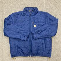 Carhartt Gilliam Jacket Mens Sz Xl Blue Lined Insulated Full Zip Coat Jacket Photo