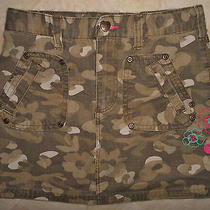 Carhartt Girl Green Camouflage Camo Ripstop Cotton Adjustable Mini Skirt 10 Photo