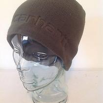 Carhartt Gray Green Knit Lined Sock Watch Cap Hat Beanie New With Tags Photo