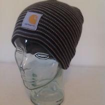 Carhartt Gray Mini Stripe Sock Watch Cap Hat Beanie New With Tags Photo