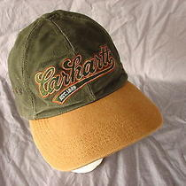 Carhartt Green Brown Adjustable Cap Hat 100% Cotton Hunting Outdoors Photo