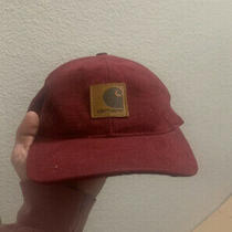 Carhartt Hat Snapback Red Canvas Streetwear Patch Logo Vintage 90s Photo