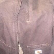Carhartt Hoodie Full Zip Brown Work Jacket Size L  Womens Photo