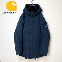 Carhartt Hoodie Parker Batting Jacket Navy Size M Photo