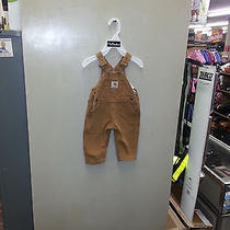 Carhartt Infant Overalls  Yir01brn  Size 12months Photo