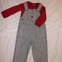 Carhartt Infant's Blue Stripe Overalls Set Photo