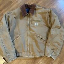 Carhartt J001 Brn Detroit Jacket Blanket Lined Mens 2xl  Brown Corduroy Collar Photo