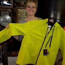 Carhartt J251 Ely (Electric Yellow) Men's Softshell Ripstop Jacket Size Xlarge Photo